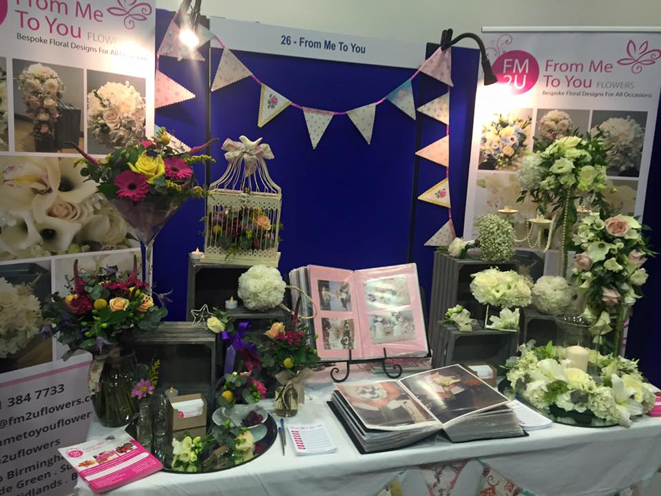 Midland Wedding Show wedding fayre from me to you wedding flowers at aston villa