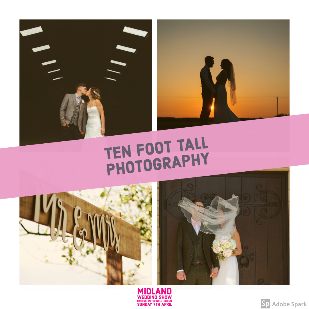 Ten Foot Tall Wedding Photography at the Midland Wedding Show wedding fair 7th April 2019