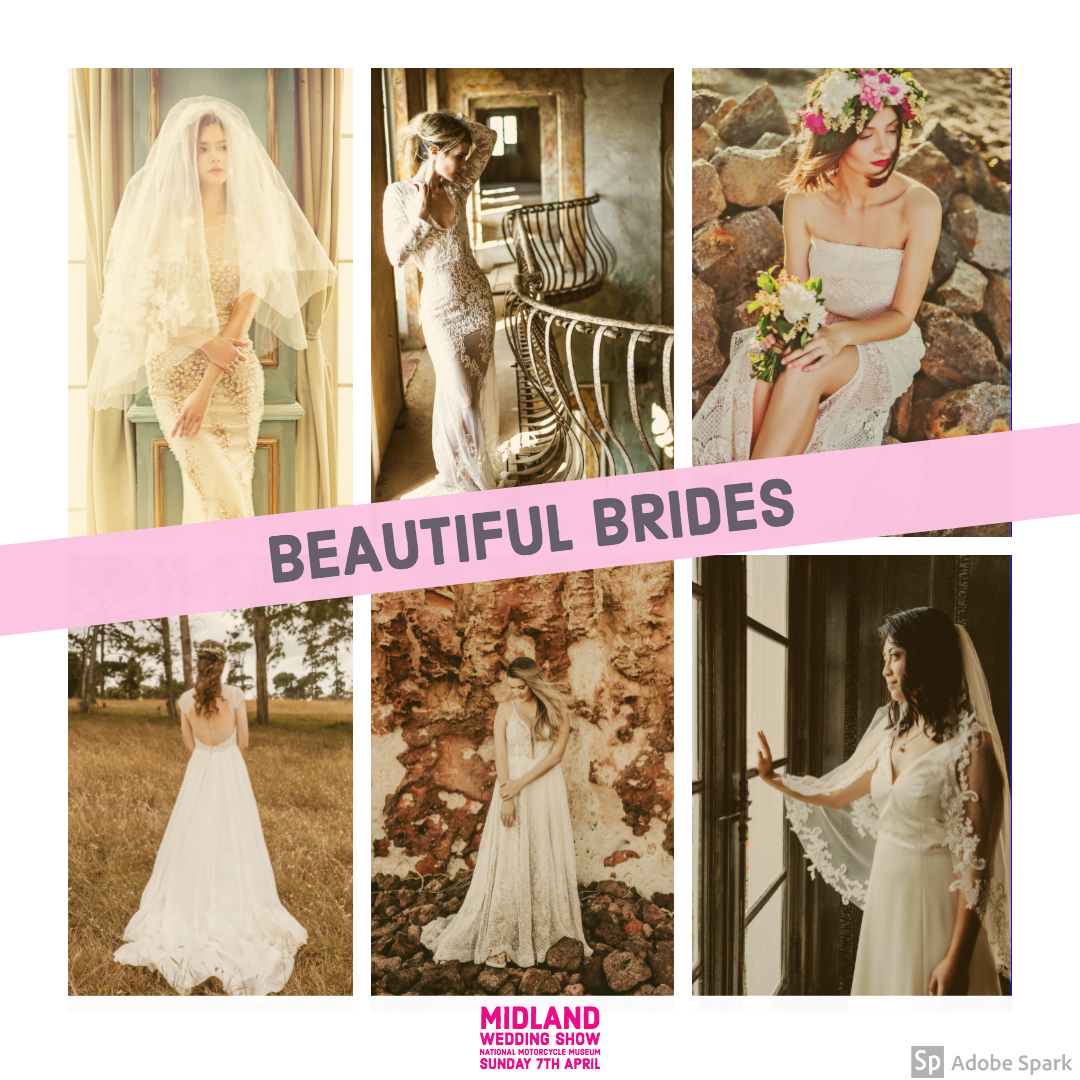 Beautiful Brides at Midland Wedding Show wedding fair 7th april 2019