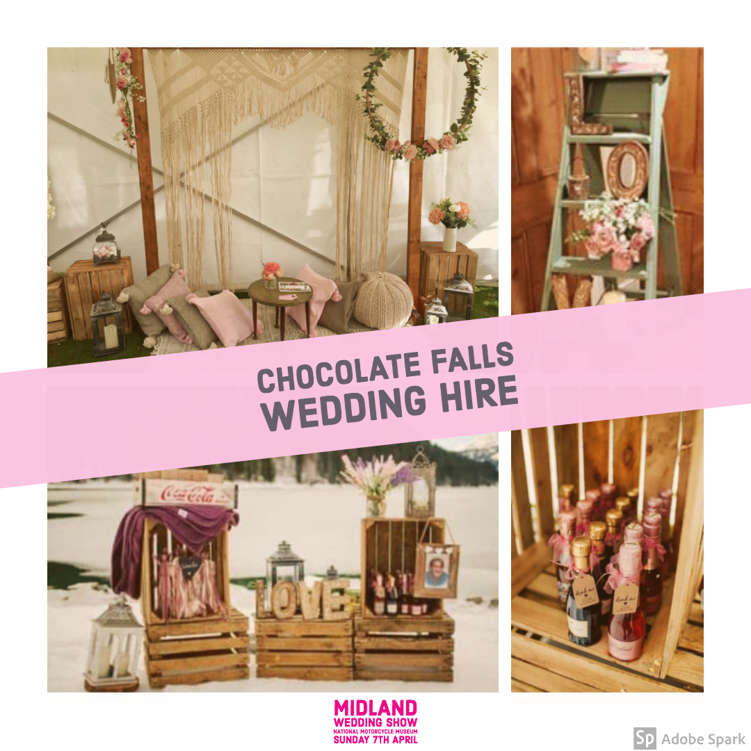 Chocolate falls wedding hire at Midland Wedding Show wedding fair 7th April
