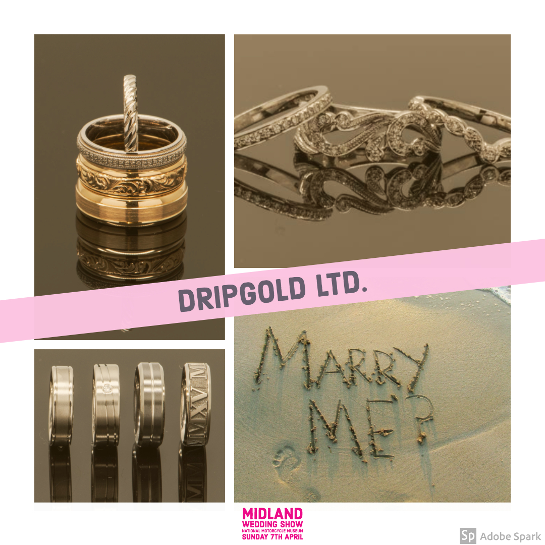 Dripgold wedding jewellers at Midland wedding show wedding fair 7th April 2019