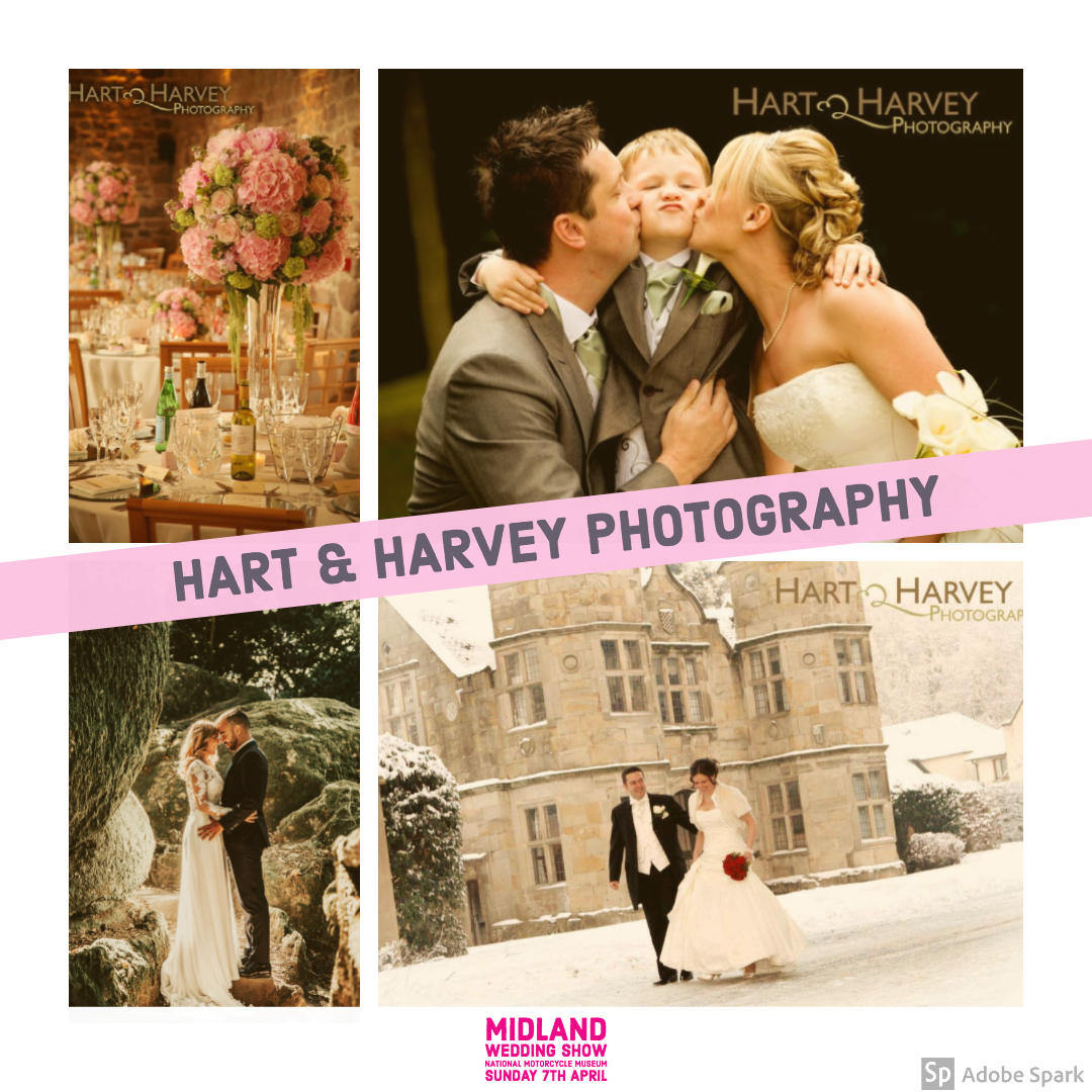 Hart and Harvey wedding photography at Midland Wedding Show wedding fair 7th april 2019