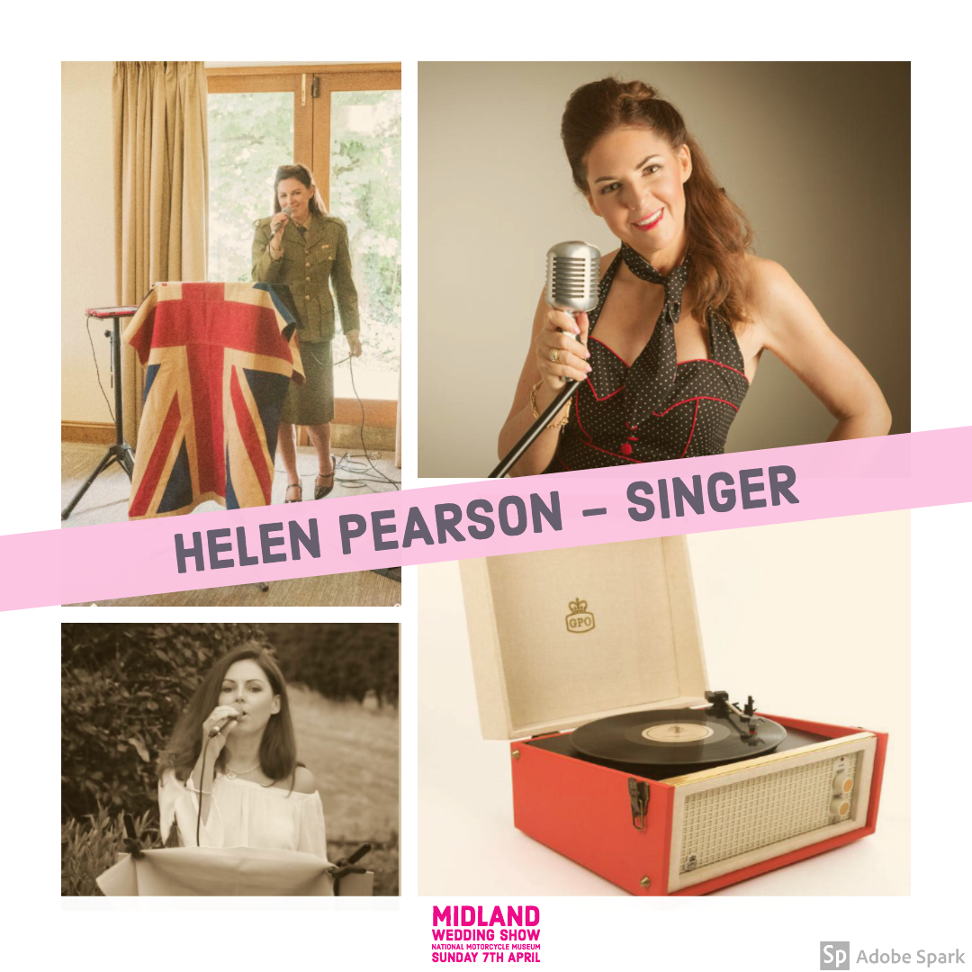Helen Pearson wedding singer at Midland wedding show wedding fair 7th april 2019