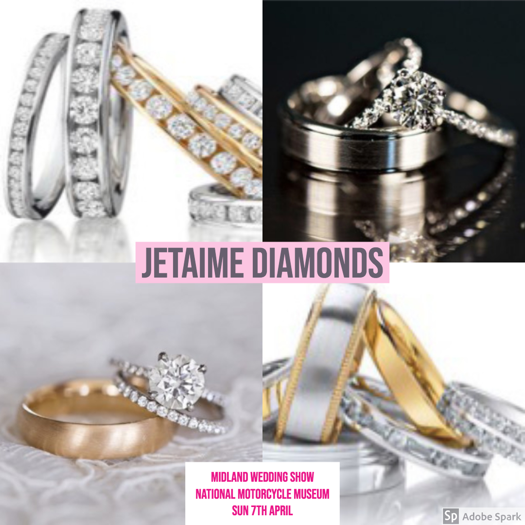 JETAIME DIAMONDS ta midland Wedding Show wedding fair 7th april 2019