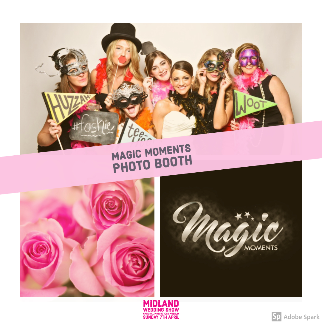 Magic moments photo booth hire at Midland Wedding Show wedding fair 7th april