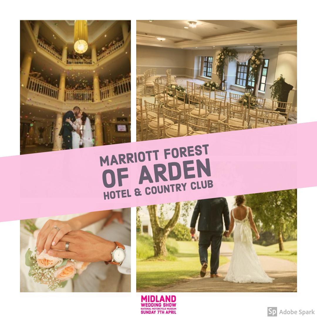Marriott Forest of Arden Hotel and Country Club at Midland Wedding Show 7th April 2019