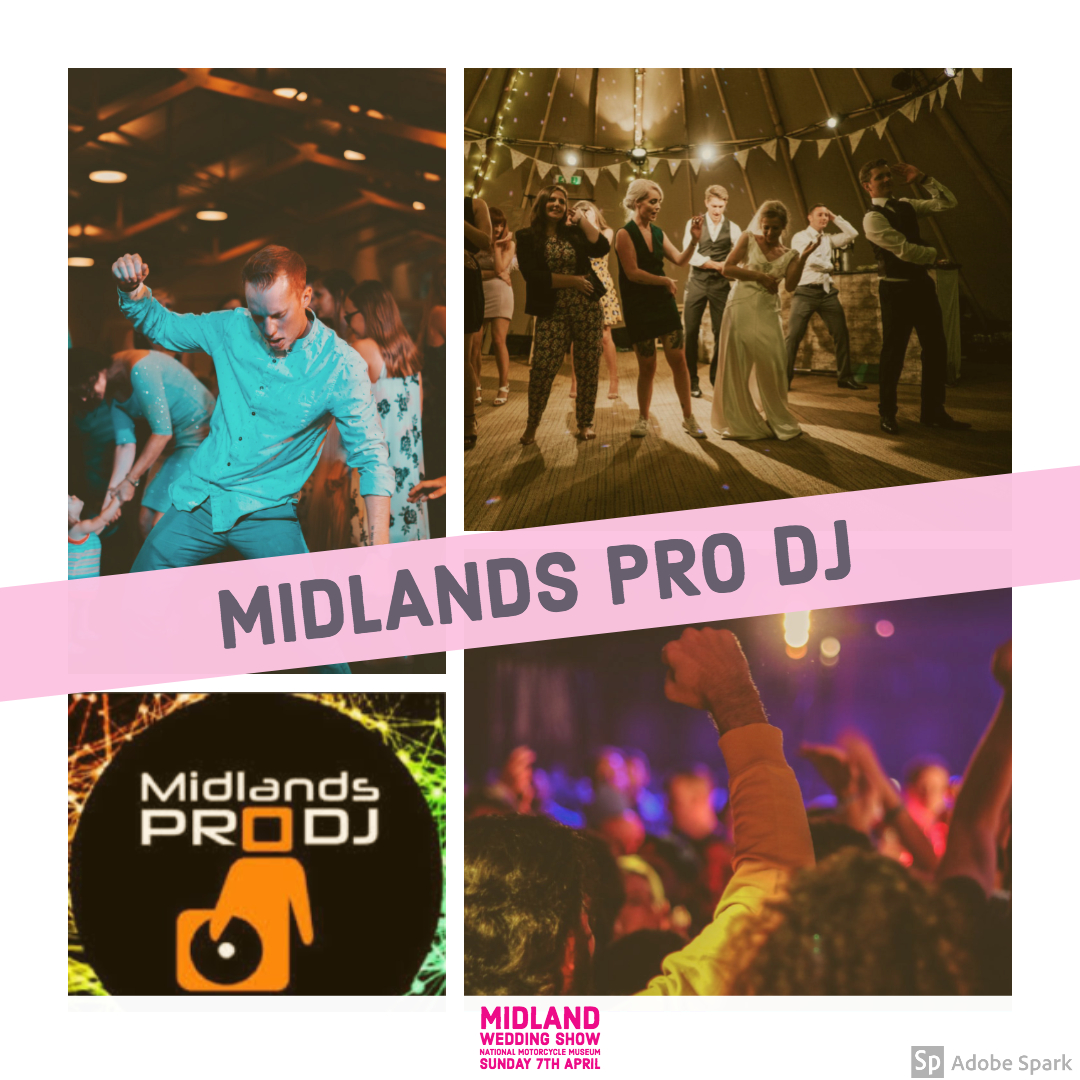 Midlands Pro DJ at Midland Wedding Show wedding fair 7th april 2019