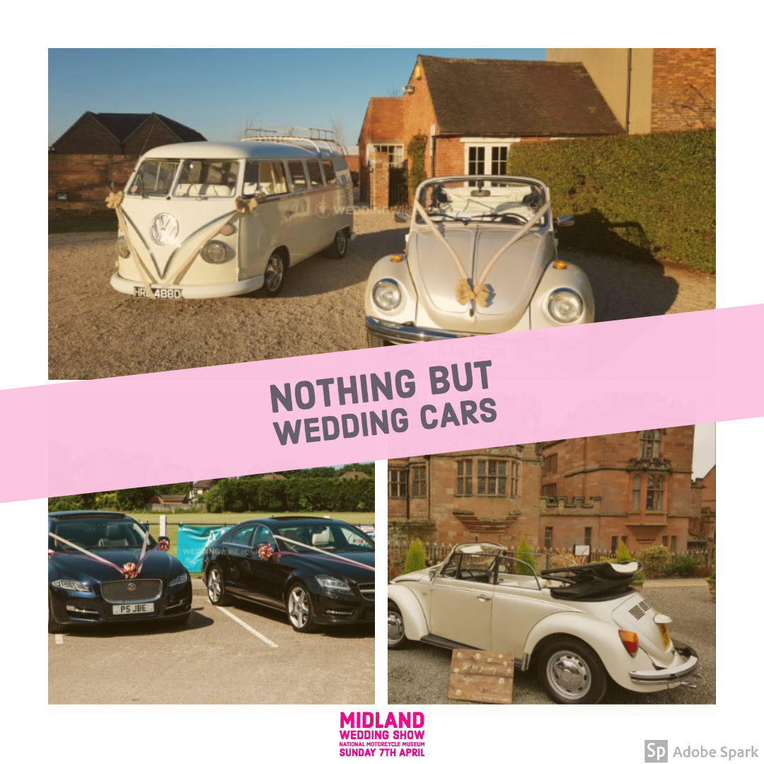 Nothing but wedding cars at Midland Wedding Show wedding fair 7th april 2019