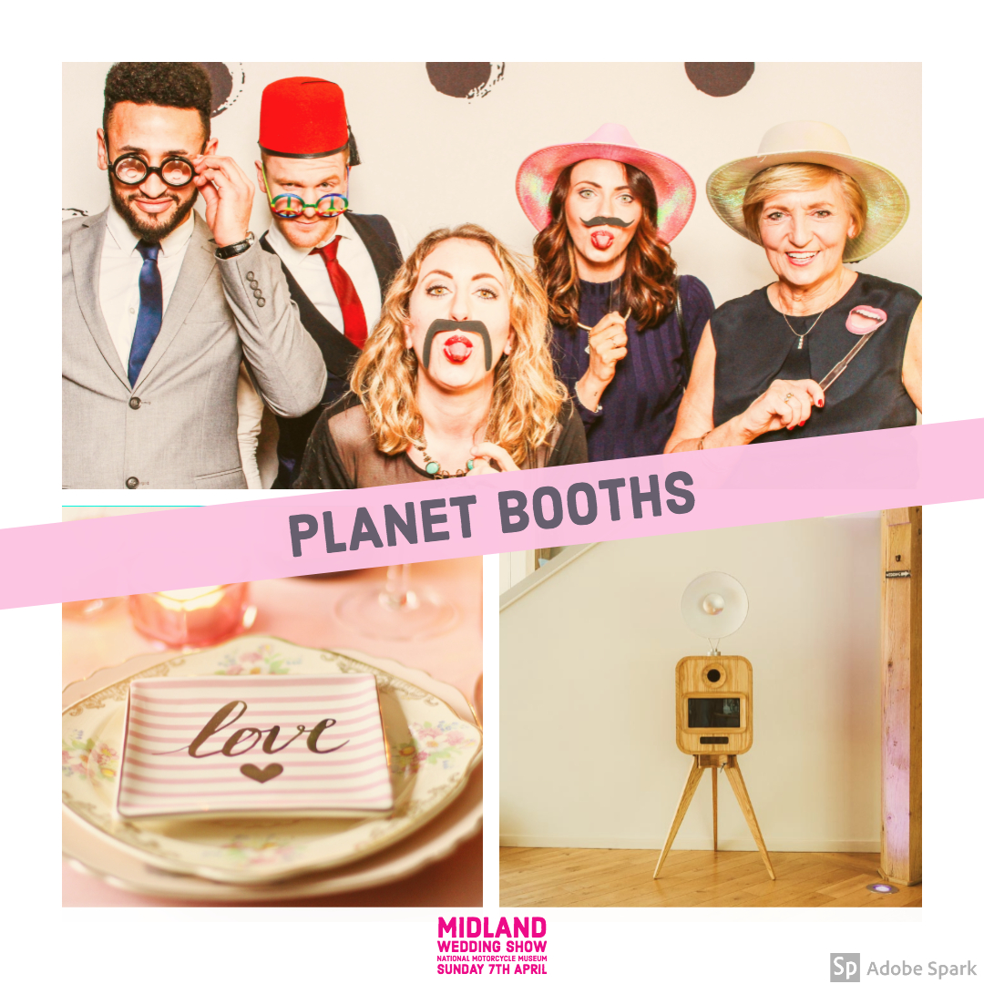Planet Booths at Midland Wedding Show wedding fair 7th April