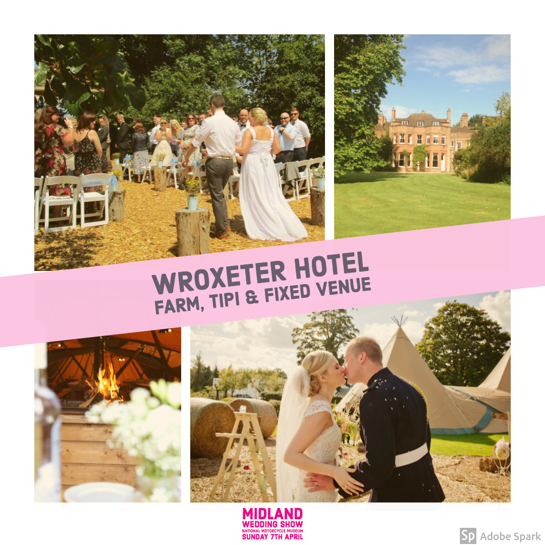 Wroxeter Hotel at Midland Wedding Show wedding fair 7th april 2019