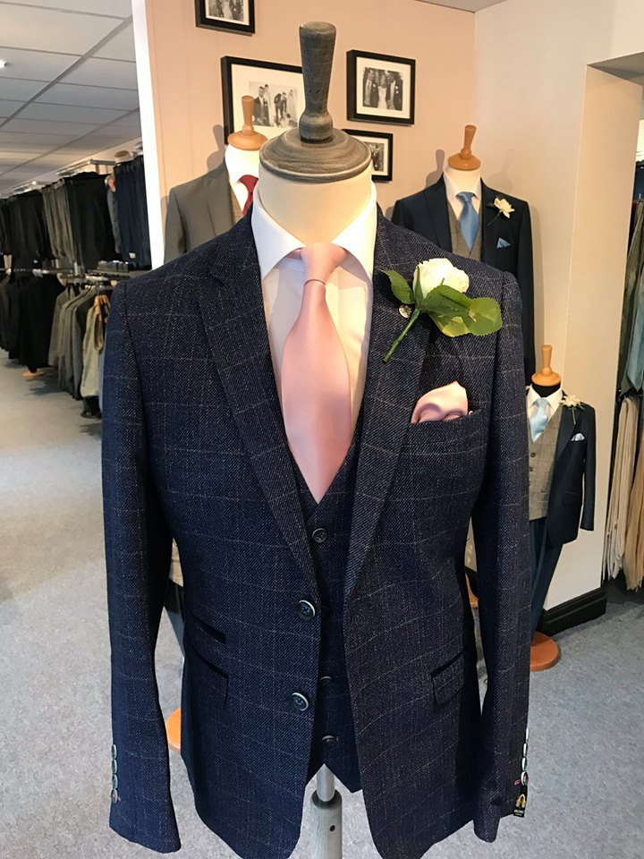 Peter Posh #menswear #groomswear at Midland Wedding Show at National Motorcycle Museum
