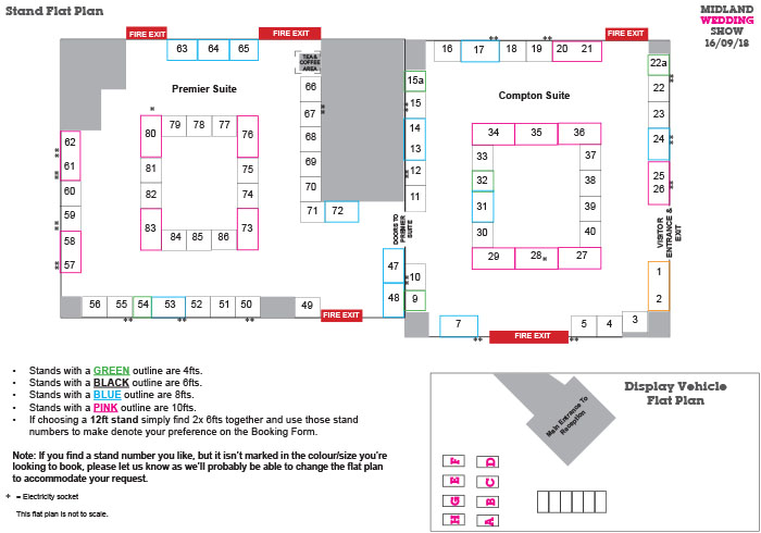 Midland Wedding Show wedding fair NEW Stand Layout