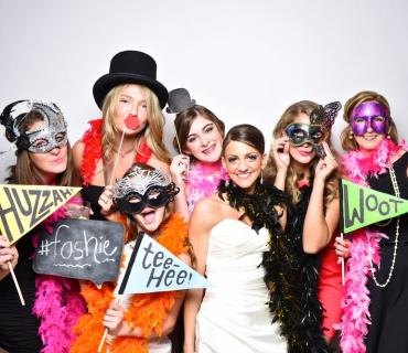 Photo booth magic mirror at Midland Wedding Show