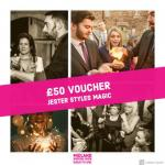 Jester Styles voucher at Midland Wedding Show wedding fair 7th april 2019