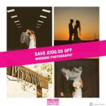Save £100.00 OFF Wedding Photography at Midland Wedding Show 7th April 2019