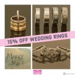 15% OFF wedding jewellery at Midland wedding show wedding fair 7th April 2019