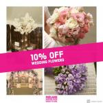 Save 10% off wedding flowers at Midland Wedding Show wedding fair 7th April 2019