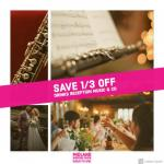 Save 33% OFF wedding trio at Midland Wedding Show wedding fair 7th April 2019