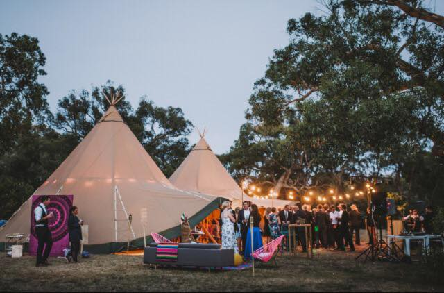 Wroxeter Hotel wedding tipi venue at Midland Wedding show at National Motorcycle Museum